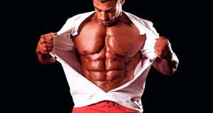 Накачанные мышцы груди