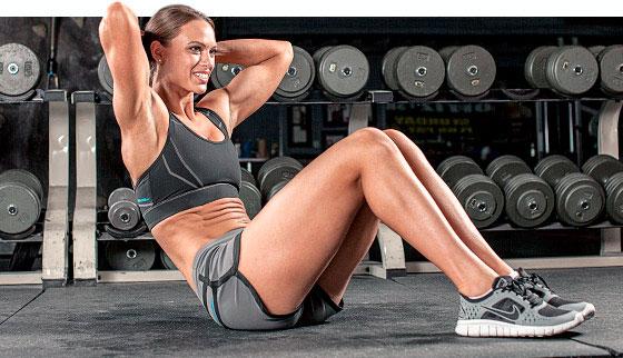 Упражнение для тренировки мышц пресса