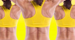 Красивая спина без жировых складок