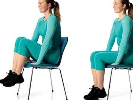 Подъем ног на стуле