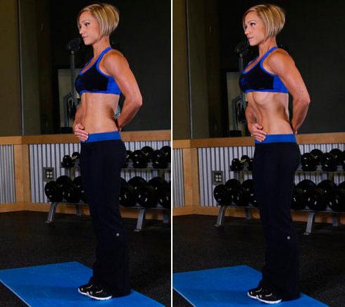 Упражнение вакуум от жира на животе