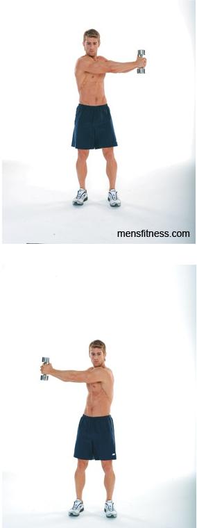 Повороты туловища на косые мышцы пресса
