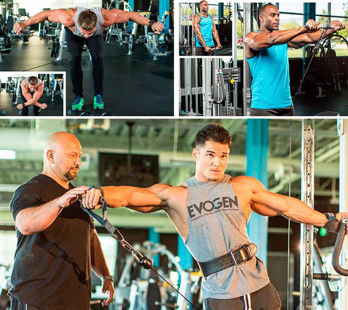 Упражнения на плечи на тренажерах