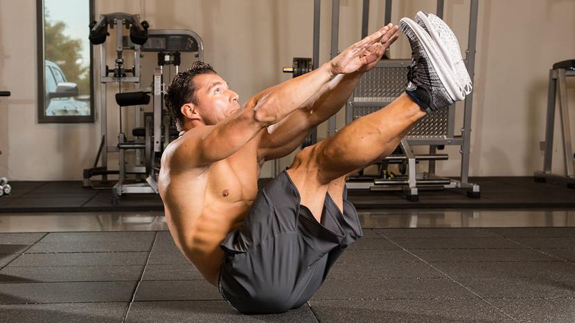 Тренировка мышц пресса