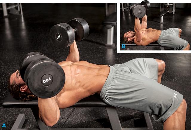 Упражнение для набора массы грудных