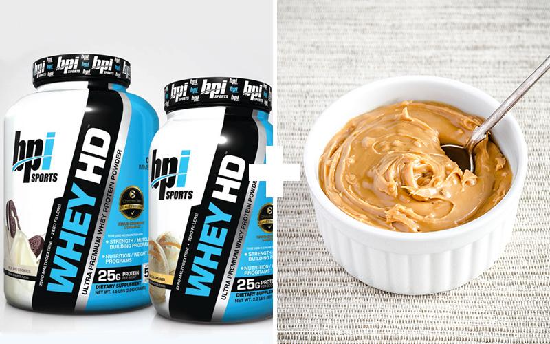 Сывороточный протеин с арахисовым маслом