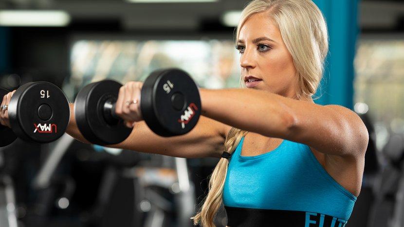 Тренировка низа для девушек в тренажерном