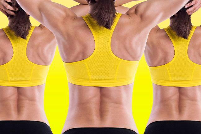Как убрать жир со спины женщине: простые упражнения