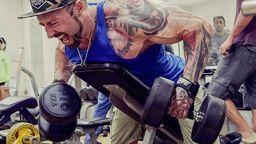 Тренировка спины и бицепса