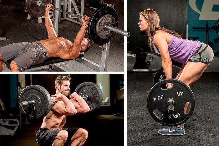 Комплекс упражнений на массу