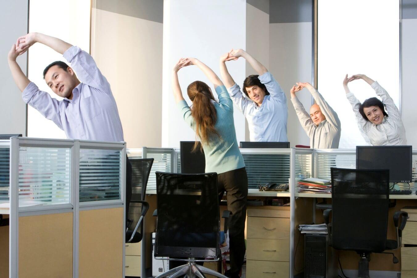 как размяться в офисе