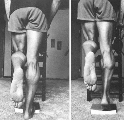 Подъемы на носки на одной ноге